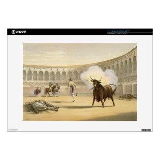 """Banderillas de Fuego, 1865 (colour litho) 15"""" Laptop Decal"""