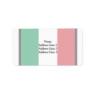 Banderín bandera de Italia, Italia Etiquetas De Dirección