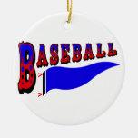 Banderín Baseball.png Adornos De Navidad
