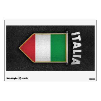Banderín de Italia con la mirada de cuero de alta Vinilo