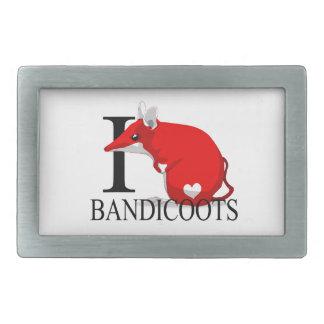 Bandicoot Hebillas Cinturon Rectangulares