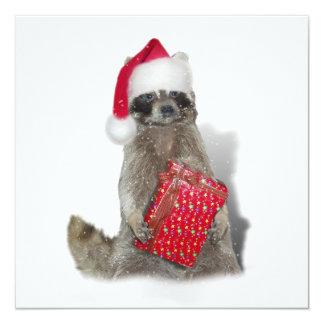 Bandido del mapache de Santa del navidad Anuncios Personalizados