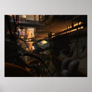Bandidos futuros - poster del Cyberpunk
