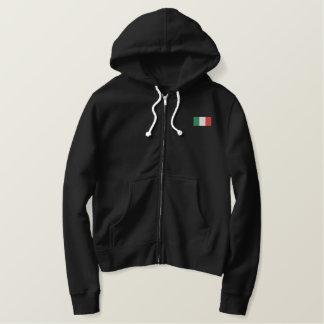 Bandiera Italiana con cappuccio - Forza Italia! Embroidered Hoodie