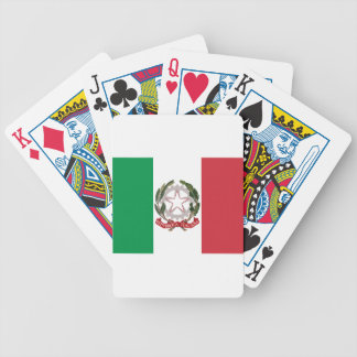 Bandiera Italiana - State Ensign of Italy Bicycle Playing Cards