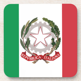 Bandiera Italiana - State Ensign of Italy Drink Coaster