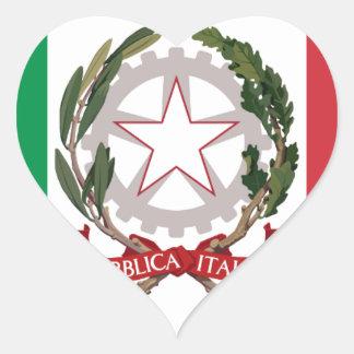Bandiera Italiana - State Ensign of Italy Heart Sticker