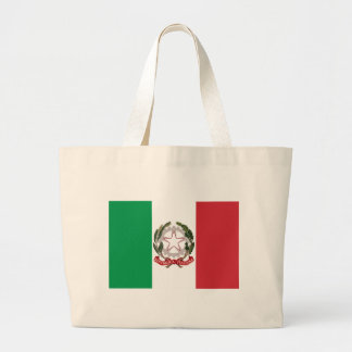 Bandiera Italiana - State Ensign of Italy Large Tote Bag