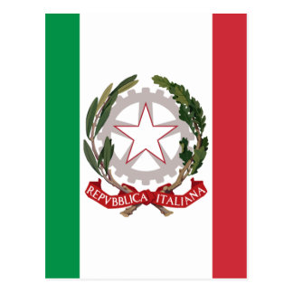 Bandiera Italiana - State Ensign of Italy Postcard