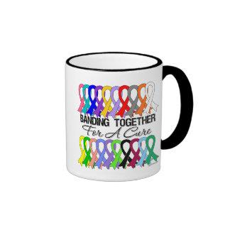 Banding Together For A Cure For All Cancers Ringer Mug