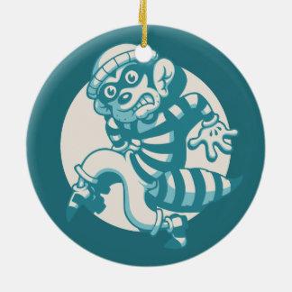 Bandit Ceramic Ornament