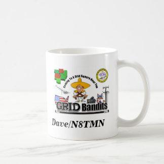 Bandit Final, Weak Signal Logo, Dave/N8TMN Coffee Mug