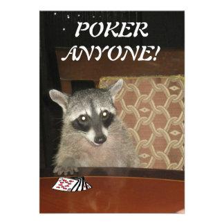 Bandit-masked raccoon Poker Anyone Invitation