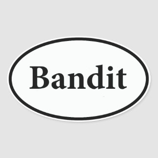 bandit oval sticker