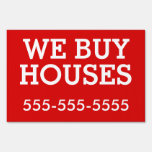 Bandit Sign: We Buy Houses Lawn Signs