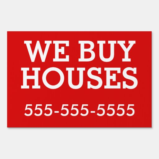 Bandit Sign We Buy Houses Signs Zazzle