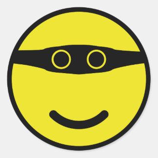 bandit smile smiley yellow classic round sticker