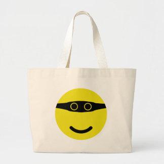 bandit smile smiley yellow jumbo tote bag