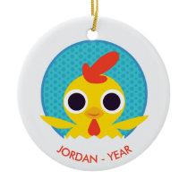 Bandit the Chick Ceramic Ornament