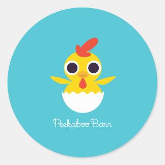 Bandit the Chick Classic Round Sticker