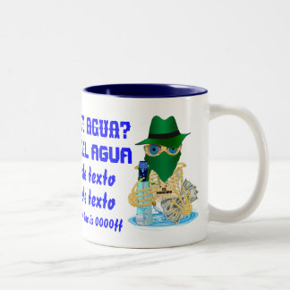 Bandit Water Conservation Customize Spanish Two-Tone Coffee Mug