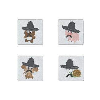 Bandito Animals Stone Magnet