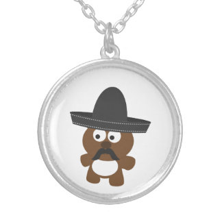 Bandito Bear Silver Plated Necklace