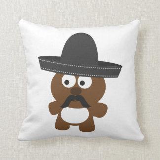 Bandito Bear Throw Pillow