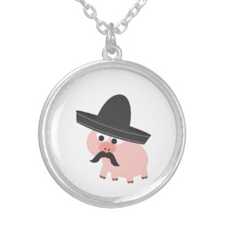 Bandito Pig Silver Plated Necklace