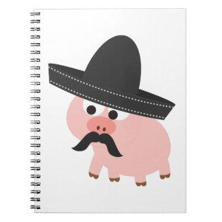 Bandito Pig Spiral Notebook