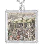 Bandits in the Orient Square Pendant Necklace