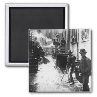 Bandit's Roost New York 1888 - Vintage Photo 2 Inch Square Magnet
