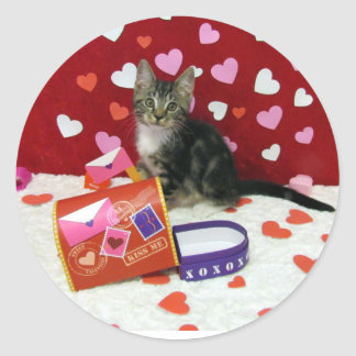 Bandit's Valentine's Stickers (Tabby Kitten)