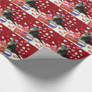 Bandit's Valentine's Wrapping Paper (Tabby Kitten)