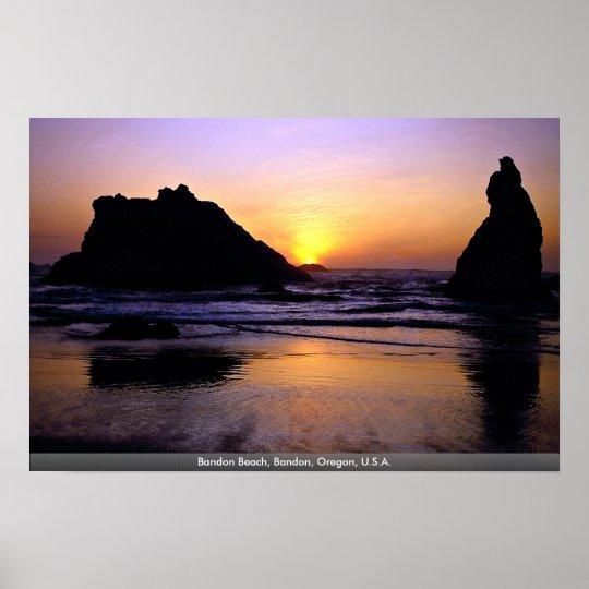 Bandon Beach, Bandon, Oregon, U.S.A. Poster