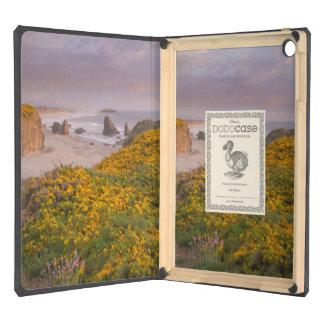 Bandon Beach Offshore Rocks Yellow Flowering Gorse iPad Air Covers