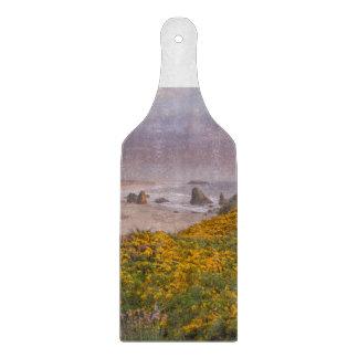Bandon Beach Offshore Rocks Yellow Flowering Gorse Cutting Boards