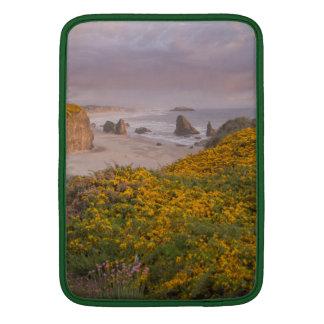 Bandon Beach Offshore Rocks Yellow Flowering Gorse MacBook Air Sleeve