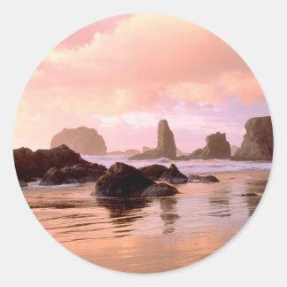 Bandon Oregon Classic Round Sticker