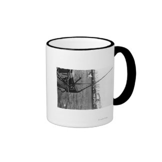 Bandon, Oregon Harbor View and Ships Photograph Coffee Mug