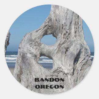 Bandon Oregon stickers Blue Ocean waves Driftwood