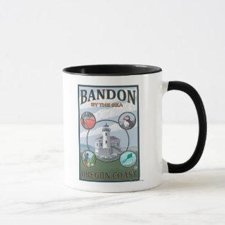 Bandon, OregonScenic Travel Poster Mug