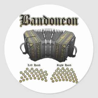 Bandoneon 2 round stickers