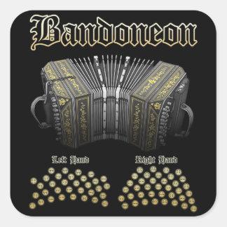 Bandoneon 2 square stickers