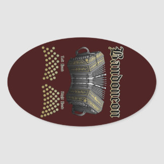 Bandoneon 2 oval stickers