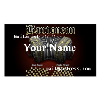 Bandoneon Double-Sided Standard Business Cards (Pack Of 100)