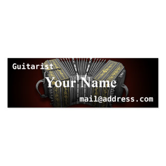 Bandoneon Double-Sided Mini Business Cards (Pack Of 20)