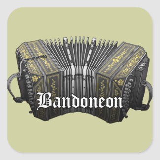 Bandoneon Square Sticker