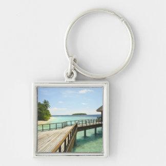 Bandos Island Resort, North Male Atoll, The 2 Silver-Colored Square Keychain