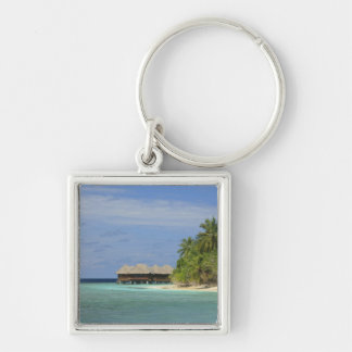 Bandos Island Resort, North Male Atoll, The Silver-Colored Square Keychain